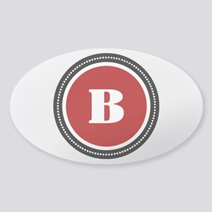 Red Sticker (Oval)
