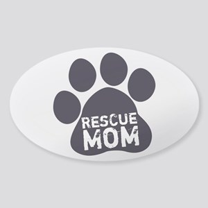 Rescue Mom Sticker (Oval)