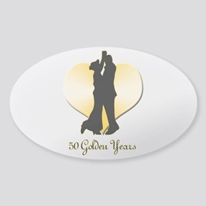 50th Wedding Anniversary Sticker (Oval)