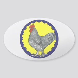 Maline Rooster Sticker (Oval)