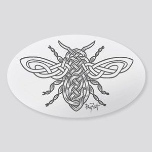 Celtic Knotwork Bee - black lines Sticker
