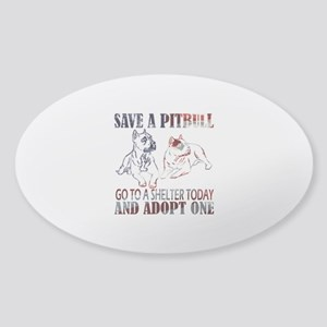SAVE A PIT BULL GO TO A SHELTER AF2a Sticker