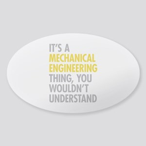 Mechanical Engineering Thing Sticker (Oval)