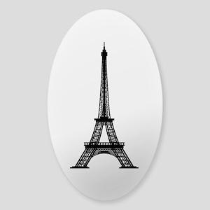 Eiffel Tower Sticker (Oval)