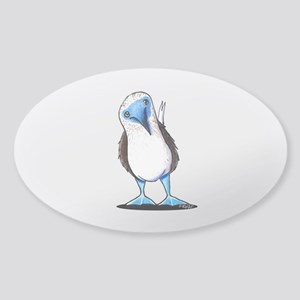 Blue Footed Booby Sticker (Oval)
