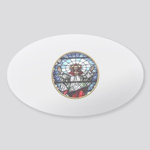 Ressurection of Jesus Stained Glass Window Sticker