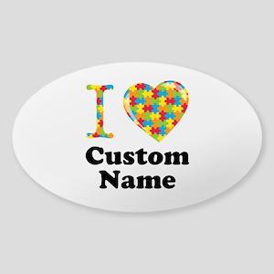 Autism Heart Sticker (Oval)