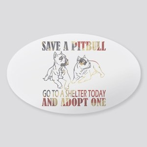 SAVE A PIT BULL GO TO A SHELTER AF4 Sticker