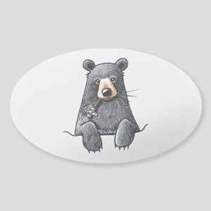 Pocket Black Bear Sticker (Oval)