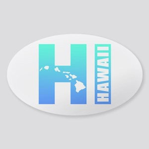 HAWAII Islands (Blue) Sticker (Oval)