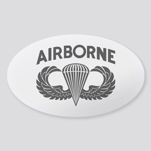 Jump Wings Stencil Sticker (oval)