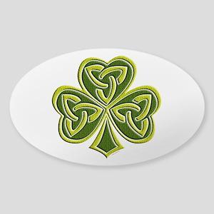 Celtic Trinity Sticker (Oval)