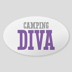 Camping DIVA Sticker (Oval)