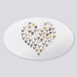 Chicken Heart Sticker
