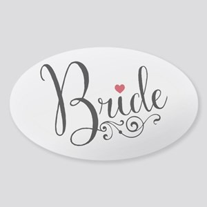Elegant Bride Sticker (Oval)