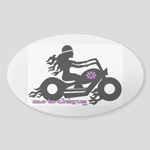 Motochique Sticker (Oval)