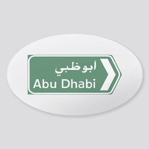 Abu Dhabi, United Arab Emirates Sticker (Oval)