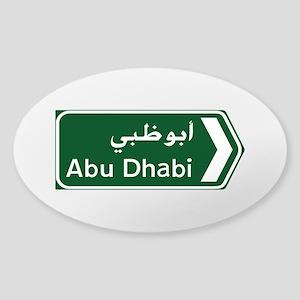 Abu Dhabi, United Arab Emirates Sticker (Oval)