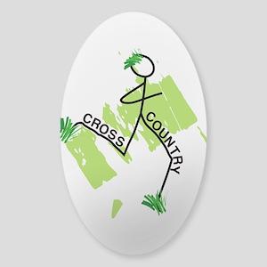 Cute Cross Country Runner Sticker