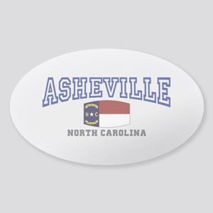 Asheville, North Carolina, NC, USA Sticker (Oval)