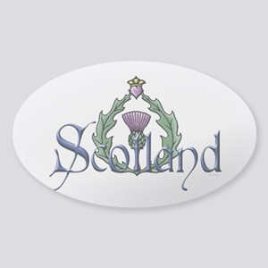 Scotland: Thistle Sticker (Oval)