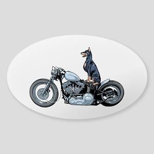 Dobercycle Sticker (Oval)