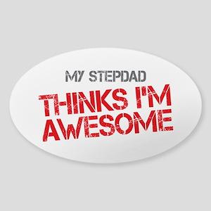 Stepdad Awesome Sticker (Oval)