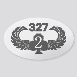 2-327 (2 of Clubs-1) Sticker (Oval)