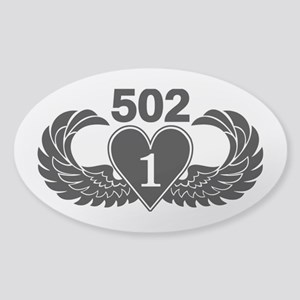1-502 Black Heart Sticker (Oval)