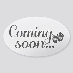 Coming Soon - Baby Footprints Sticker