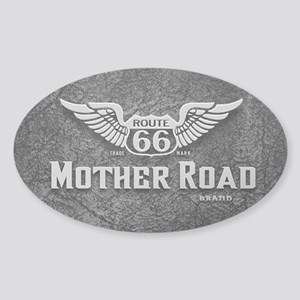 Mother Road - Route 66 Sticker (Oval)