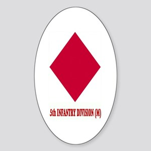 5th INFANTRY (M) Oval Sticker
