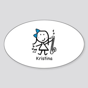 Bass Clarinet - Kristina Oval Sticker