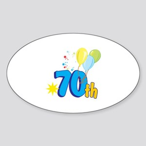 70th Celebration Sticker (Oval)
