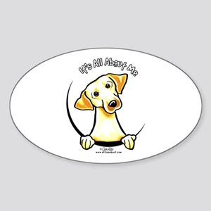 Yellow Lab IAAM Sticker (Oval)