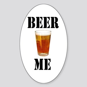Beer Me Oval Sticker