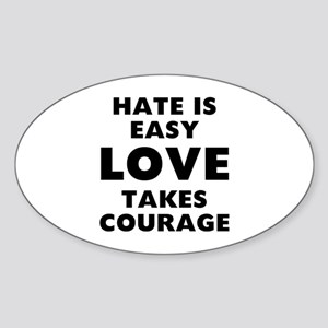 Hate Love Sticker (Oval)