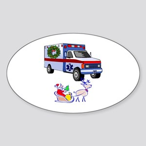 EMS Happy Holidays Greetings Sticker (Oval)