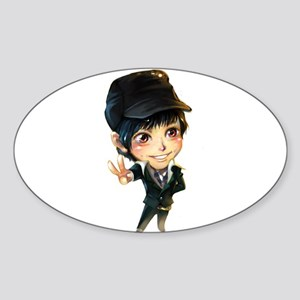 """Kim Bum"" Oval Sticker"