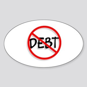 No Debt Oval Sticker