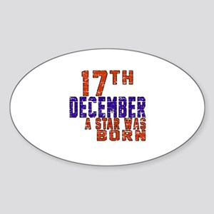 17 December A Star Was Born Sticker (Oval)