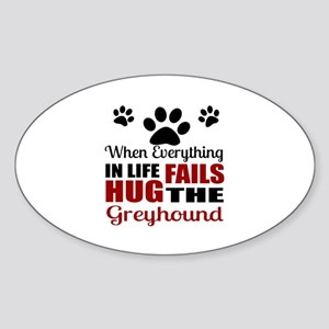 Hug The Greyhound Sticker (Oval)