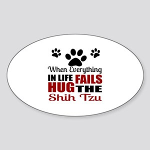 Hug The Shih Tzu Sticker (Oval)