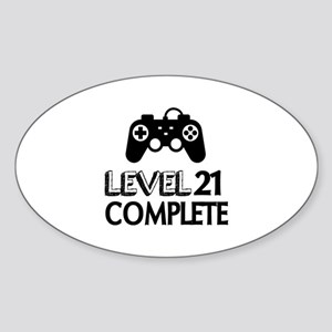 Level 21 Complete Birthday Designs Sticker (Oval)