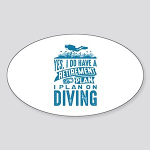 Retirement Plan Diving Sticker (Oval)