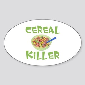 Cereal Killer Oval Sticker