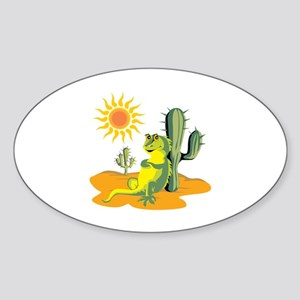 Lizard Sticker (Oval)