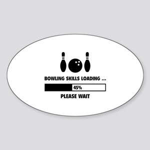 Bowling Skills Loading Sticker (Oval)