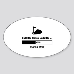Golfing Skills Loading Sticker (Oval)