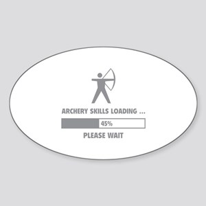Archery Skills Loading Sticker (Oval)